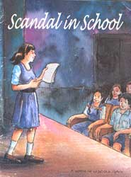 "comic book ""scandal in school"" on child sexual abuse"